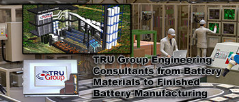 tru group battery materials and lithium battery plant engineering