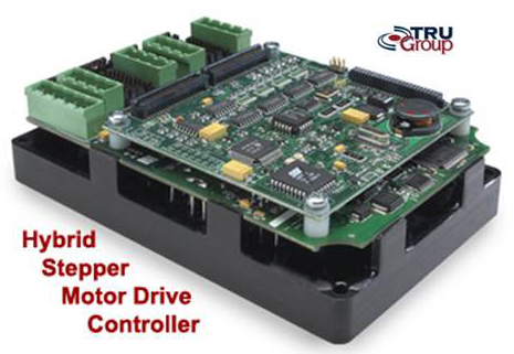 Hybrid stepper motor drive controller tru group inc for Stepper motor position control