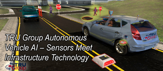 driverless vehicle lidar sensor for road markings