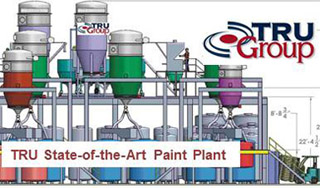 TRU state-of-the-art-paint-plant