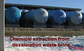 TRU desalination waste brine valuable mineral extraction