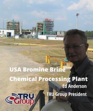 Bromine Brine processing to Bromide Chemicals