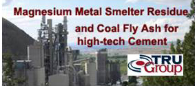 Magnesium Smelter Residue in Cement