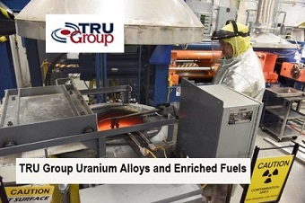 tru group uranium alloy medical isotopes USA Europe